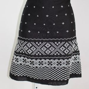 Studio M women's skirt short black/white size 8